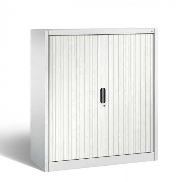 Rollladenschrank Büro mit Einlegeböden 3OH Lichtgrau oder Schwarzgrau