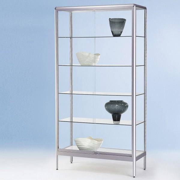 Glasvitrine stehend mit Schiebetür abschließbar