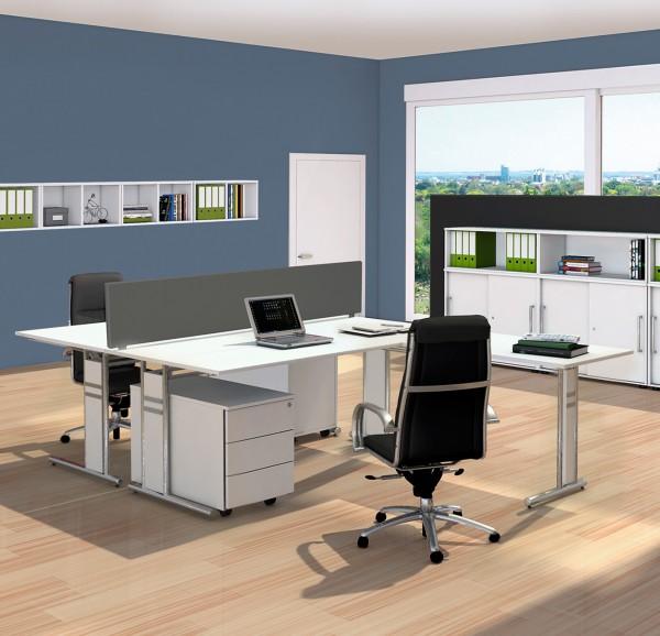 Doppelarbeitsplatz Dommo Schreibtische L Form