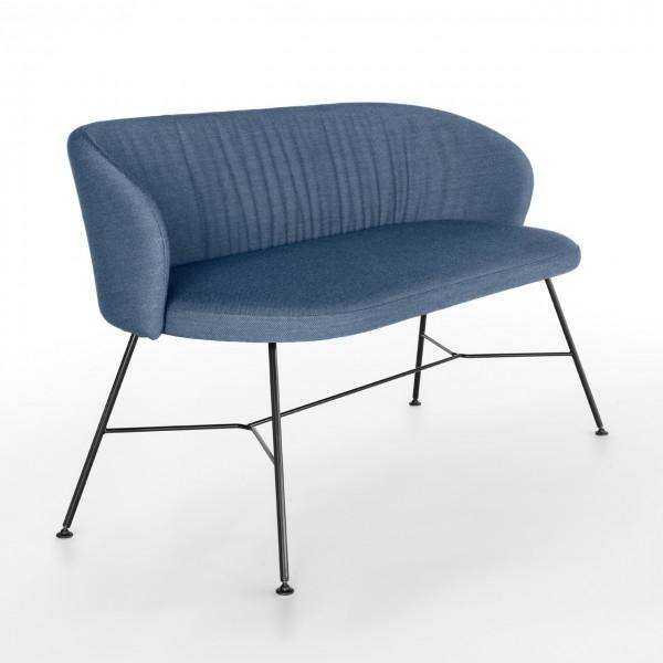 Designer Zweisitzer Sofa mit Metallgestell Girsberger