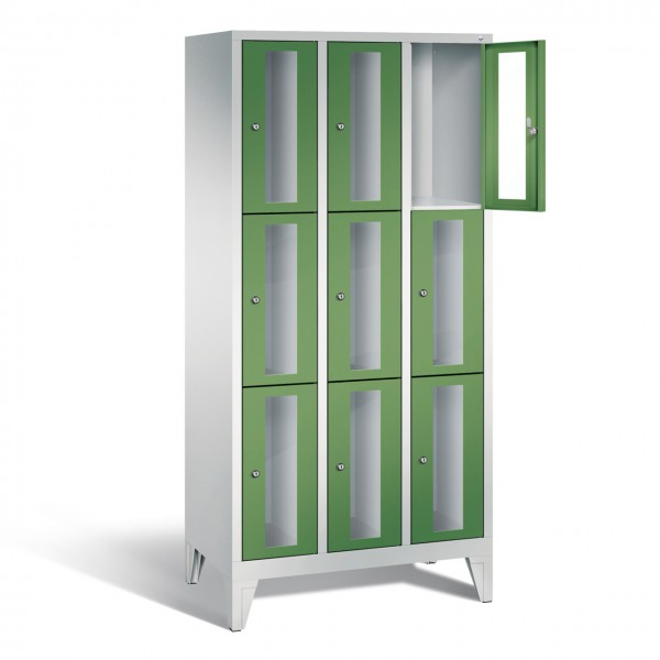 Fächerschrank Metall abschließbar Türen mit Sichtfenster