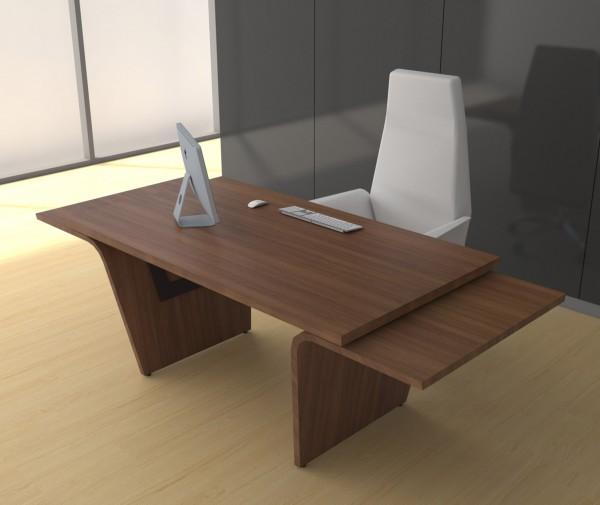 Designer Schreibtisch Walnuss Lorrus