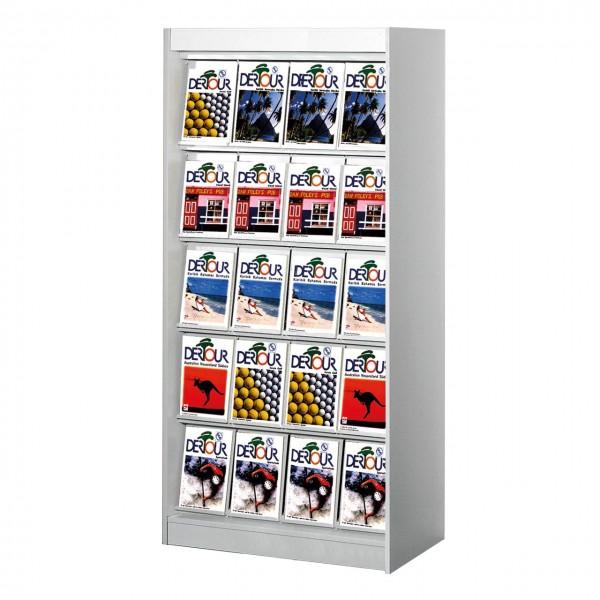 Zeitschriftenschrank 20 x A4 Prospektschrank