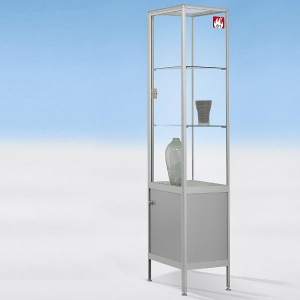 Brandschutz Glasvitrine 50 cm breit mit Unterschrank