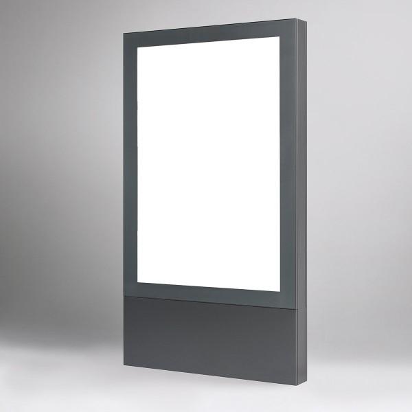 Vitrine Außenbereich freistehend mit LED-Beleuchtung