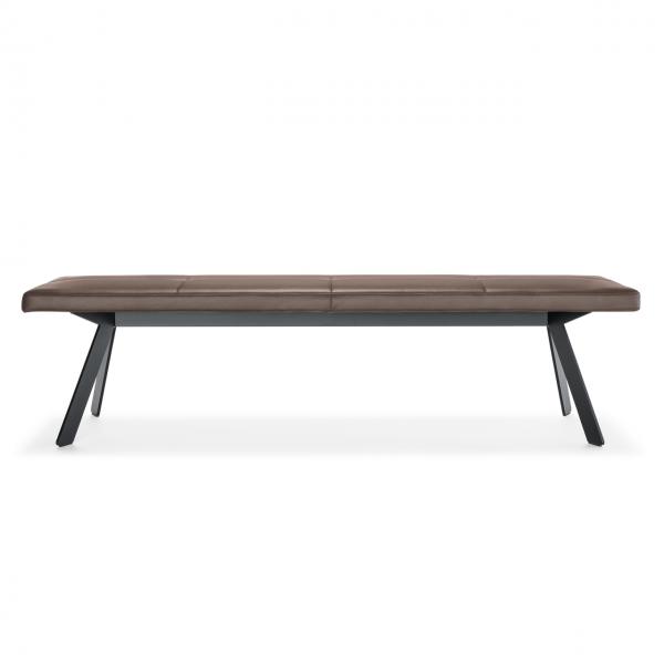 Designer Sitzbank 200 cm ohne Lehne Metallgestell