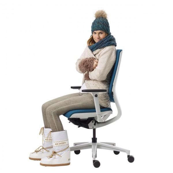 Klöber Klimastuhl Heiz- und Lüftungsfunktion in Sitz und Rücken
