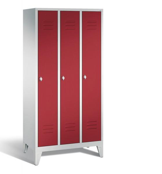 Garderobenschrank Büro mit Füßen 90 x 185 x 50 cm