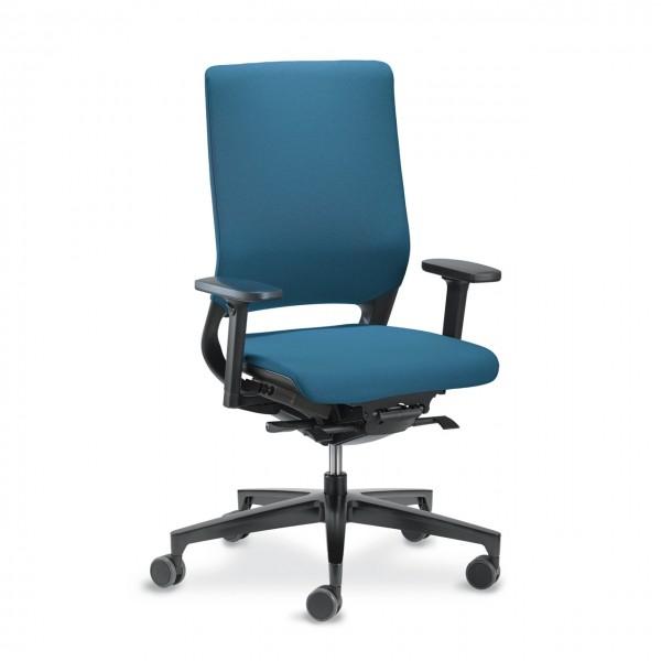 Klöber Mera gepolsterter Bürostuhl Sitzneigung verstellbar