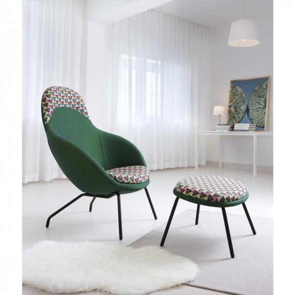 Lounge Sessel mit Hocker Vienna