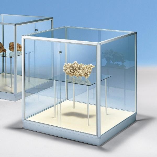 Glasvitrine quadratisch mit Glastablar