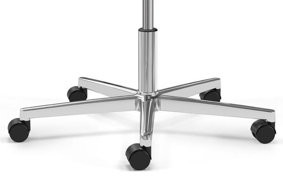 K+N Publica Fußkreuz 5-strahlig auf Rollen