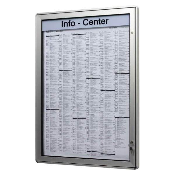 Plakatkasten Profile gerundet mit Drehtür