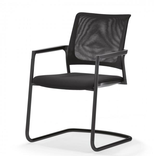 Klöber Freischwinger Netzrücken Stuhl mit Armlehne