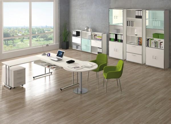 Büromöbel Komplettset Eckkombination Schreibtisch Domeek