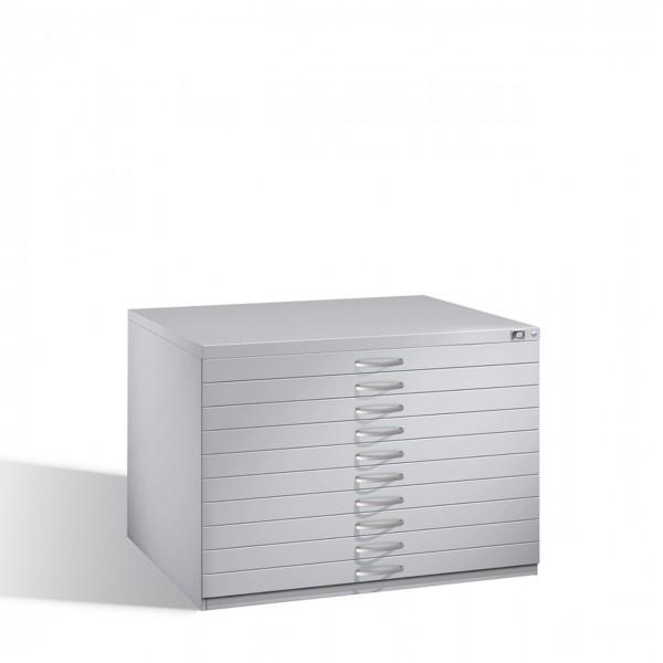Zeichnungsschrank Flachablageschrank DIN A1 oder DIN A0 10 Schubladen