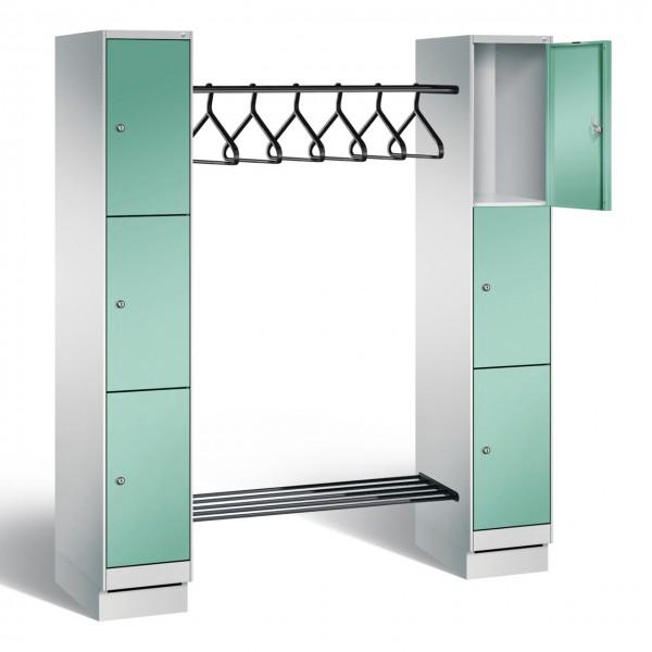 Garderobenschrank Spind mit Stahltüren