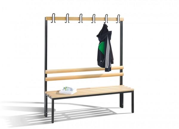 Garderobenbank mit Hakenleiste 150 cm breit