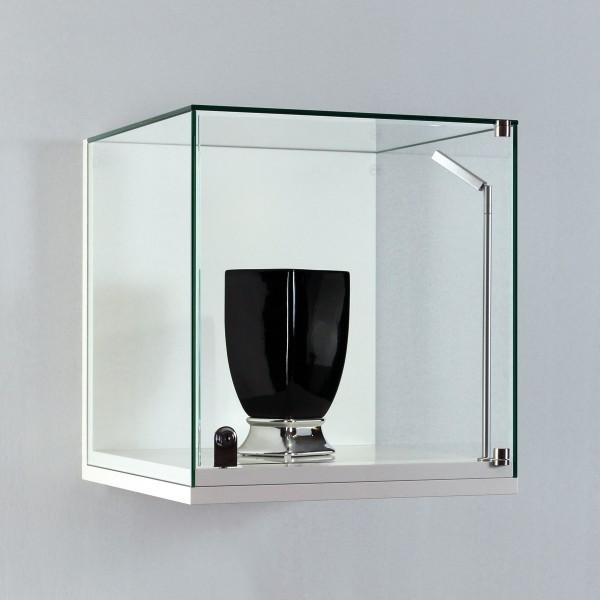 Kleine Glasvitrine für die Wand mit Flügeltür