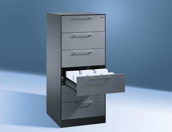 Karteikartenschrank DIN A5 quer 6 Schubladen abschließbar