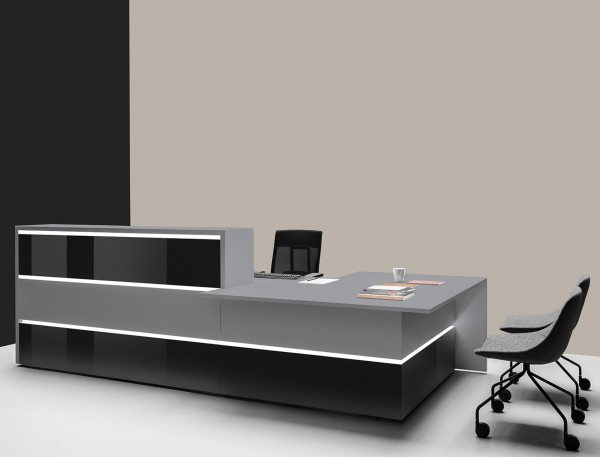 Moderne Theke Bürotheke Triest