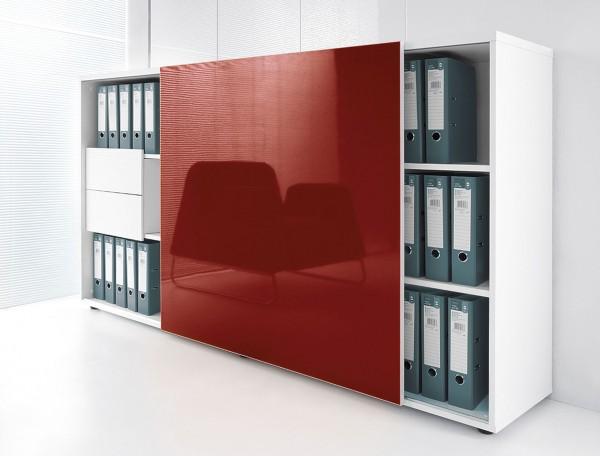 Design Aktenschrank mit Rolltür und Schubladen Stand