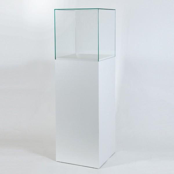 Glashaube Vitrine mit Unterbau